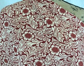 African Java Print Fabric--African Print Fabric--Tuareg Design Print--Rust Red & Beige Floral Print--African Fabric by the HALF YARD