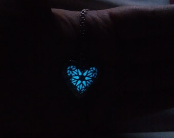 Glow in the Dark - Heart Necklace