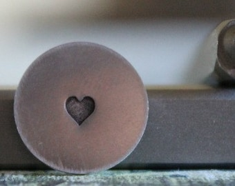 3mm Solid Heart Metal Design Stamp - Metal Stamp - Metal Stamping and Jewelry Tool - SGUB-20
