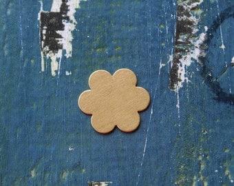 """7/8"""" Brass Flower Stamping Blank - 24 Gauge - 6 Petal Flower Blank - 7/8"""" - Pack of 5 - Jewelry Stamping Blank - SGMET-440.15G"""