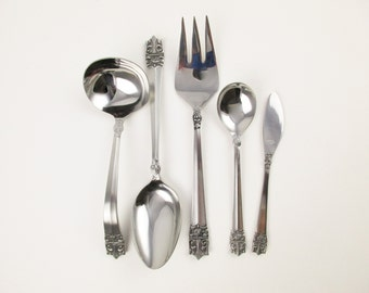 Set of 'Supreme Cutlery' Accessory Pieces - Stainless, Japan - New - Five Piece Set - New/Never Used Flatware