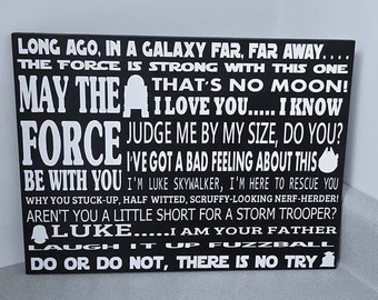 Star Wars Subway Art - May The Force Be With You - Movie Subway Art