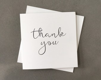 Thank you card, wedding thank you, thank you, simple thank you card