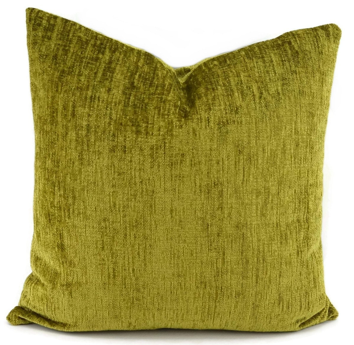 Chenille Throw Pillow Covers : Green Chenille Throw Pillow Cover Lime Green Chenille Lumbar
