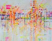 Sunny wall- print on Canvas, Giclée