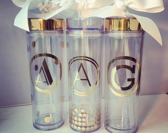 Personalized Tumbler, Bridesmaid, summer cup, bridesmaid gift, gold foil tumbler, Personalized Gift, Personalized Water Bottle,Birthday Gift