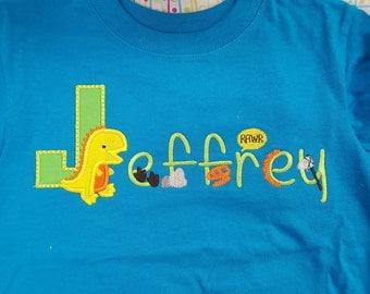 Dinosaur name shirt or onesie