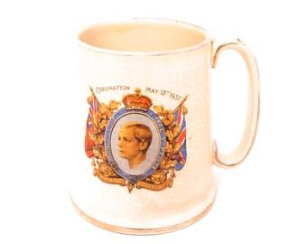 King Edward VIII Tanard, Coronation of King Edward VIII 1937, Collectible Royal Mug, English Royal Family, Royal Souvenir, English Royalty