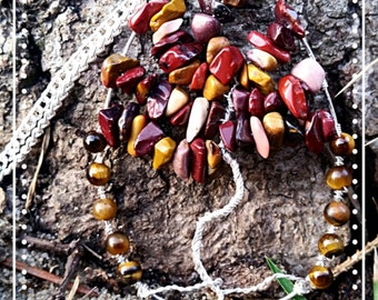 Mookaite and Tiger's Eye Tree of Life