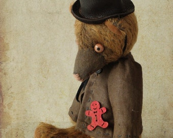 "OOAK  Artist teddy bear , handmade teddy bear ""Alex """