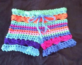 PDF Crochet Pattern  l  Love the Beach Shorts Bathing Suit Cover up