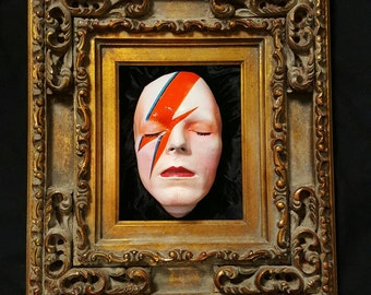 David Bowie life mask framed