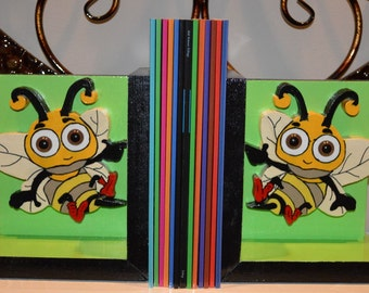 Book Buddy - Buzzy Bee bookends (1 pair)