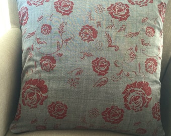 Gorgeous Rose Cushion Cover/Pillow from Millrose Fabric