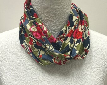 Made to Order Liberty of London Jersey Scarf in Boxford in red