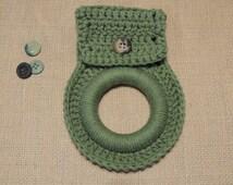 MindyMakesIt - Crochet Towel Holder, Solid Colors (Wash Cloth, Dish Cloth, Face Cloth, Hand Towel Holder, Kitchen, Bath)