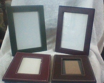 Vintage Group of Four Small Milano Leather Frames