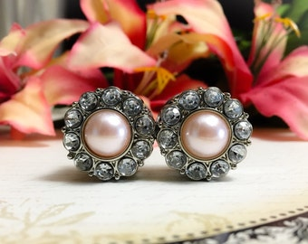 Pink Pearl Wedding Plugs, gauges   3/4, 7/8, 19mm, 22mm