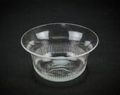 3 Vintage Elegant Gadrooned 4.7'' BOWLS Art Deco Dining Glass Small Serving Cereal English Circa 1920 LS