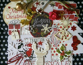 Christmas mini red kit with beautiful and happy empellishments!!!