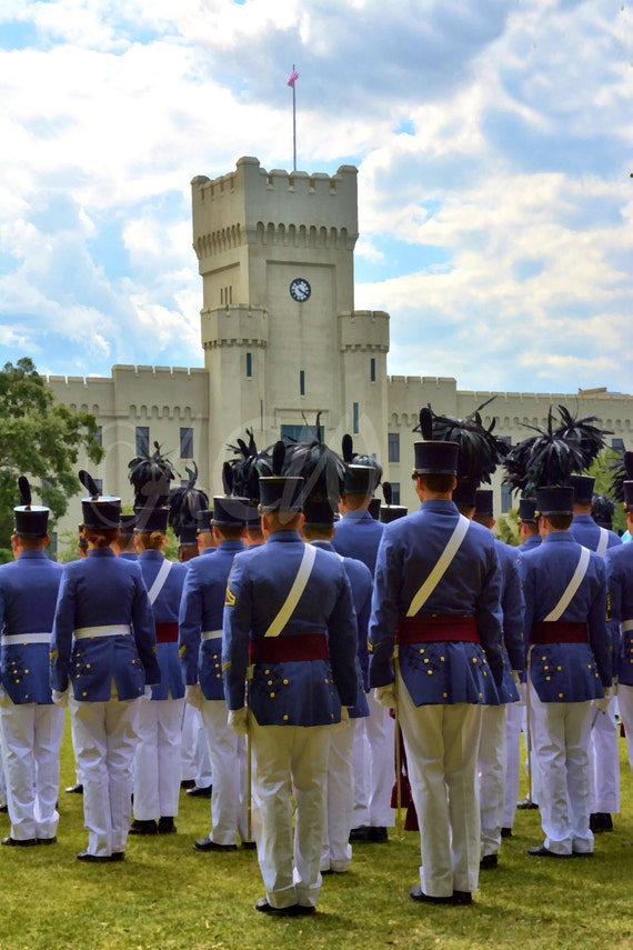 Cadets at Parade at The Citadel in Charleston SC (16 x 20 canvas)