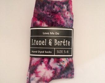 Hand Dyed Socks - 'Love Me Do'