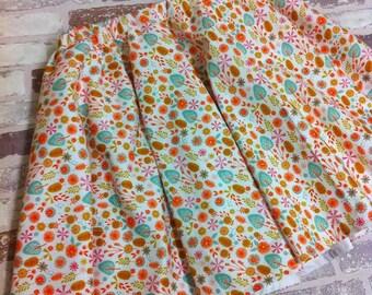 cuckoo calling white floral girls, baby full circle 50's twirly skirt custom made 0-8 years