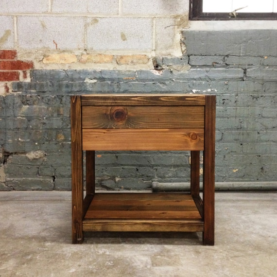 bois de grange rustique table de chevet de style fin table - Table De Nuit Rustique