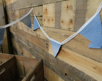 Lace and Denim Bunting