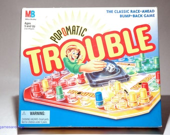 Trouble Pop O Matic Game from Milton Bradley 1994 COMPLETE (read description)