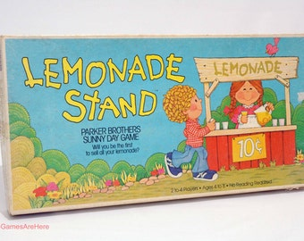 Lemonade Stand Game from Parker Brothers 1979 COMPLETE