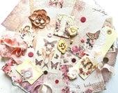 Scrapbook Embellishment Kit / Prima Tales of You & Me / Embellishments / Scrapbooking Supplies / Prima Flower / Shabby Chic / Pocket Journal