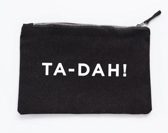 Ta-Dah Make Up Pouch - Canvas pouch - cosmetic pouch