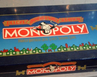 Monopoly 1984 Anniversary Edition New Sealed in Box