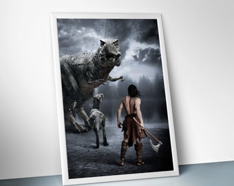"""The Hunt : digital art, photo manipulation, poster print, 24"""" X 36"""", 16"""" X 24"""", 12"""" X 18"""", 8"""" X 12"""""""
