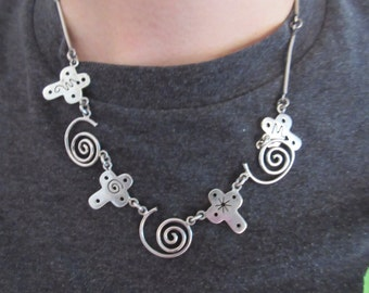 Awesome Designer Cross Sterling Silver Necklace