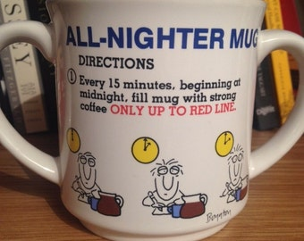 RARE 2 Handled All-Nighter Mug by Recycled Paper Products