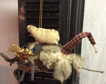 Primative Wizard Angel Doll Hanging