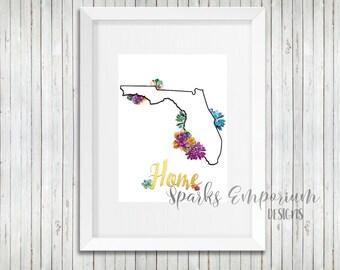 Florida Home Printable - Digital Download - Instant Download - Home Decor