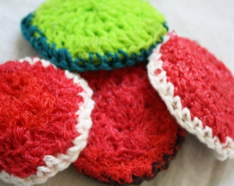 Upcycled Crochet Pot Scrubbers | Cotton and Upcycled Plastic | Set of 3 | Eco-Friendly | Cleaning | Kitchen