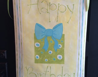 Personalized burthday banner, hand painted-reusable year after year!