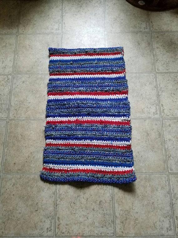 red white blue rag rug. Black Bedroom Furniture Sets. Home Design Ideas