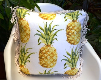 Pineapple Cushion . Tropical Cushion . Resort Style