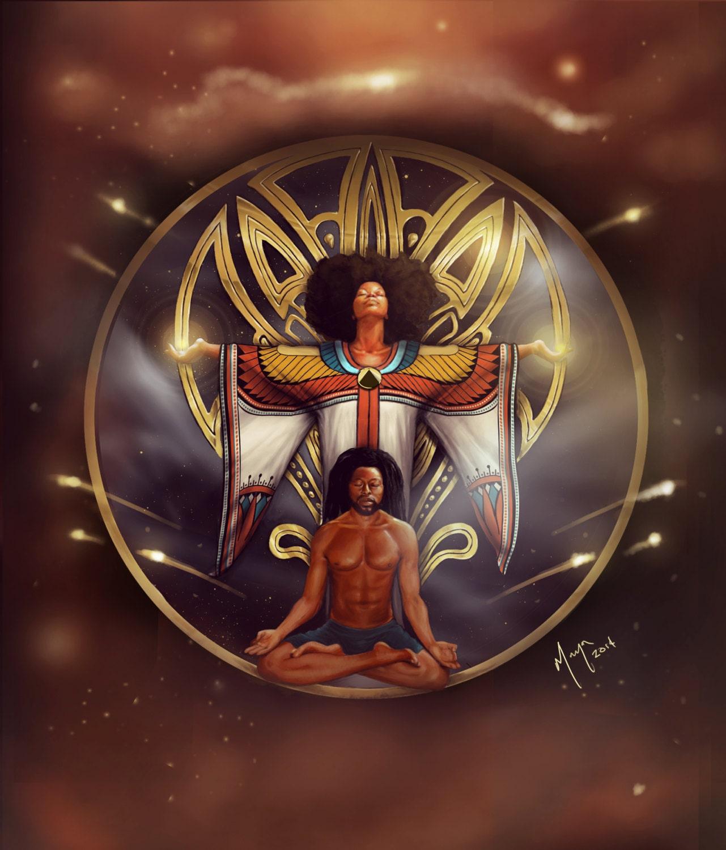 Kemetic Mandala African American Ancient Egyptian Artwork