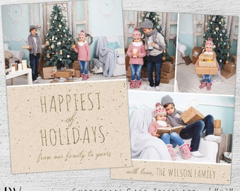 Christmas Photo Card Template, Holiday Card Templates for Photographers, Christmas Card Template, Photo Christmas Cards, Photoshop Templates
