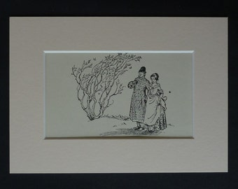 1950s Vintage Pauline Baynes Print, CS Lewis Decor, Available Framed, Magical Art, Narnia Gift, Magician's Nephew Picture, King Frank Cabby