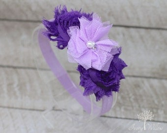 Purple and Lavender Headband - Lavender Headband - Purple Headband - Baby Headband - Adult Headband