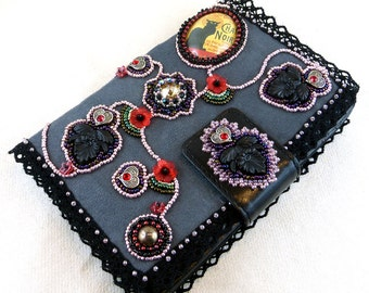Wallet, purse, wallet, bead embroidery, bead embroidery