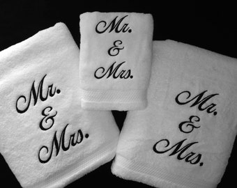 Mr and mrs towel etsy for Mr and mrs spa