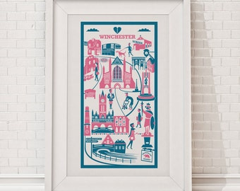 Winchester Print / City illustration